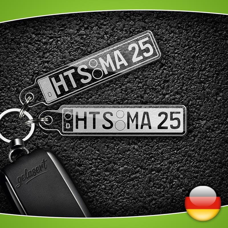 Kennzeichen-Schlüsselanhänger PKW Deutschland
