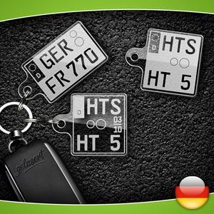 Kennzeichen-Schlüsselanhänger Motorrad Deutschland