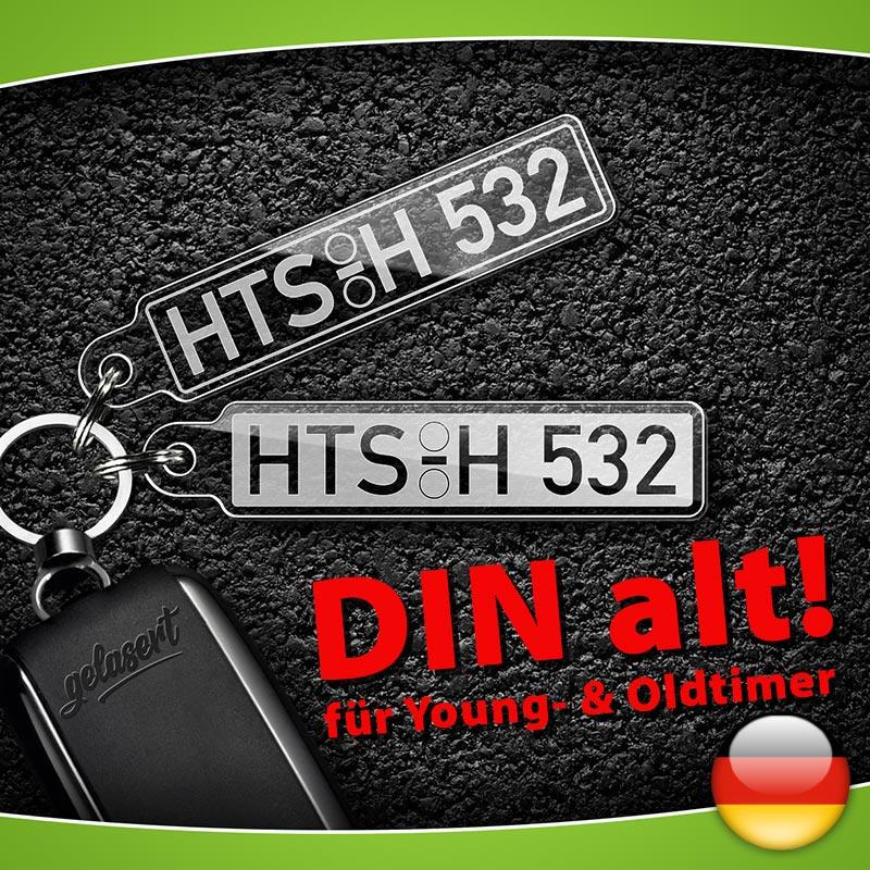 Kennzeichen-Schlüsselanhänger DIN ALT PKW Deutschland