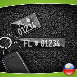 Kennzeichen-Schlüsselanhänger PKW Liechtenstein