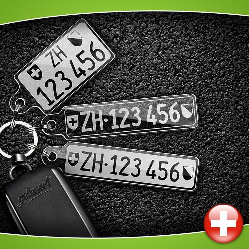 Kontrollschild Schlusselanhanger Pkw Schweiz