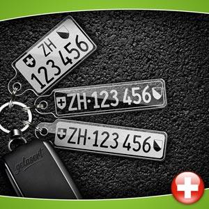 Kontrollschild-Schlüsselanhänger PKW Schweiz