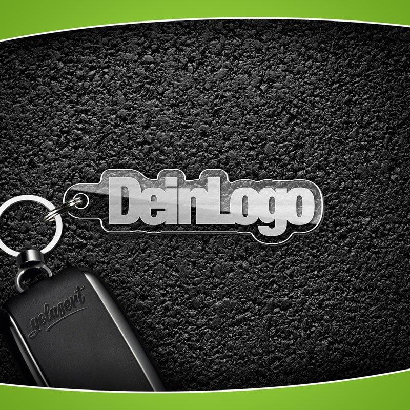 Schlüsselanhänger Acrylglas mit eigenem Logo